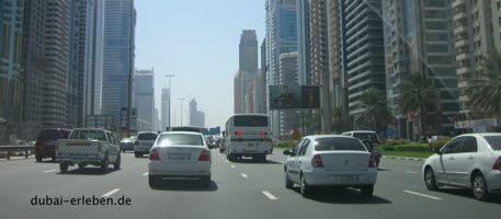 Dubai Stadt vor und nach dem Abnehmen