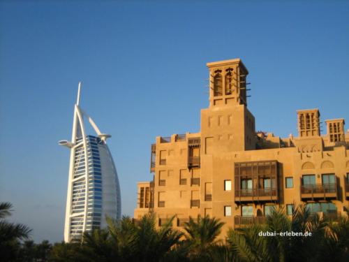 Das Burj al Arab vom Mina al Salam aus